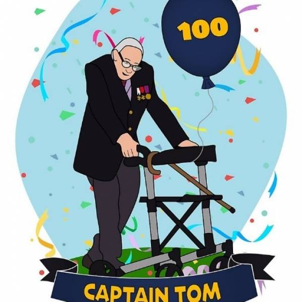 #100orMore for Captain Tom Moore!
